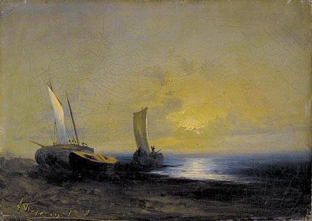 Seascape with Sailboats