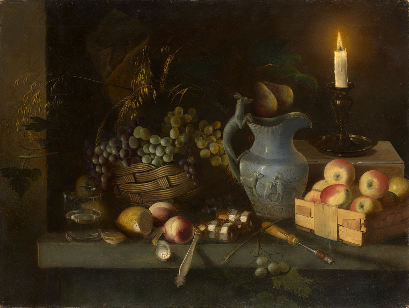 Still Life with Candle and Opera Glasses