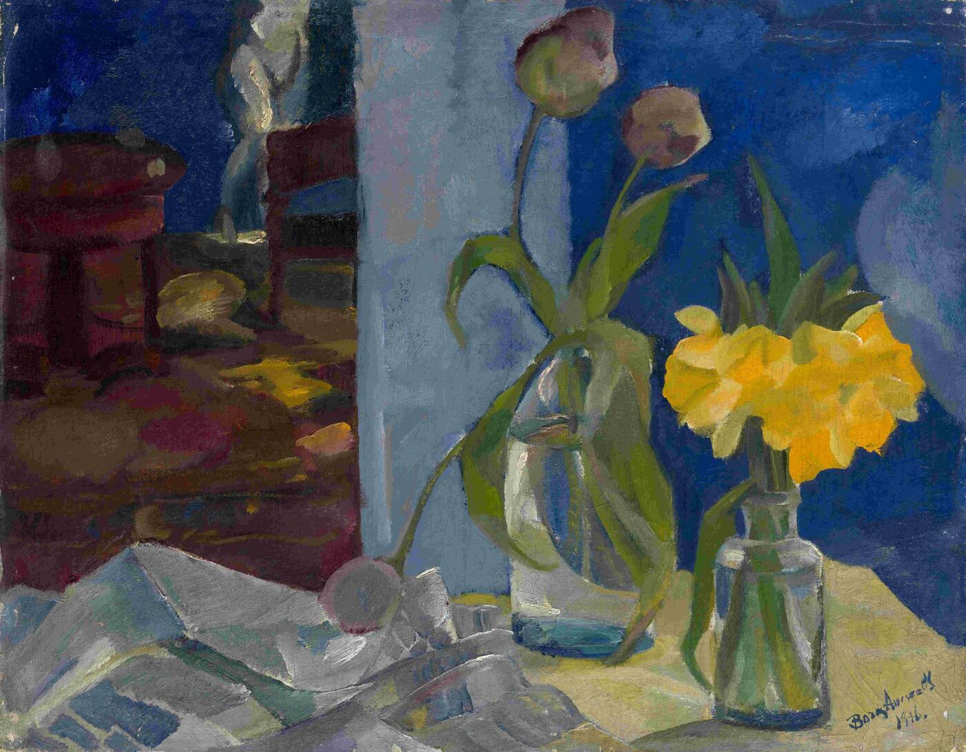 Still Life in Blue Room
