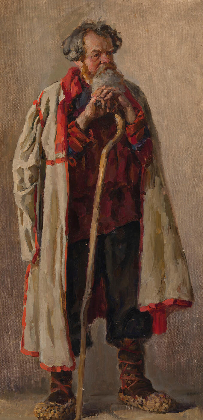 "Old Peasant, Study for the Painting ""Pugachev"","