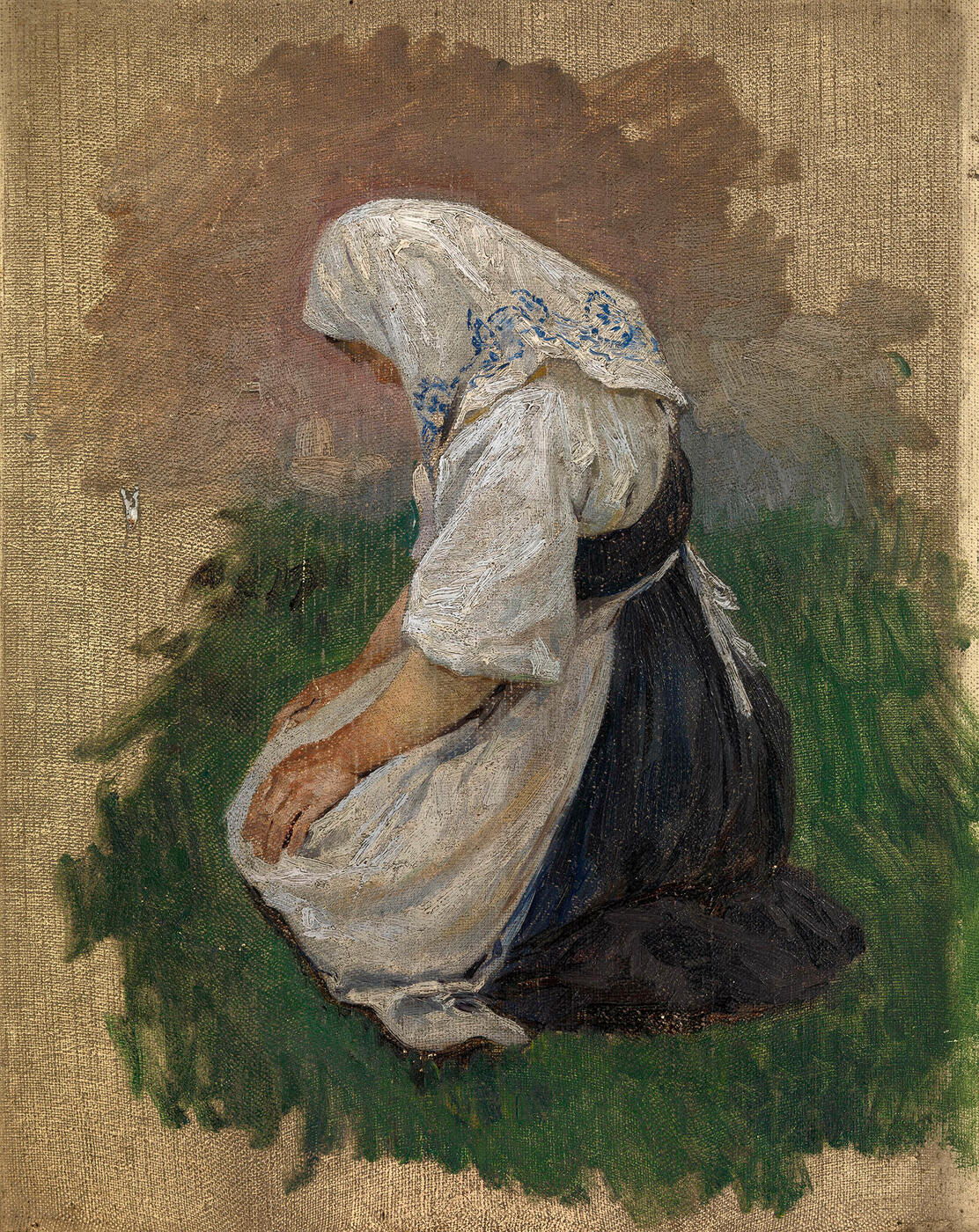 Study of a Kneeling Woman,