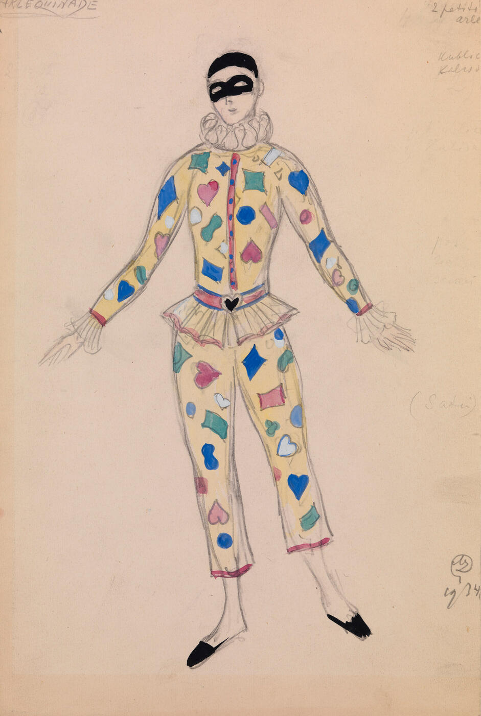 "Costume Designs for ""Harlequinade"" </i>and<i> ""Graduation Ball"", </i>two works<i>,"