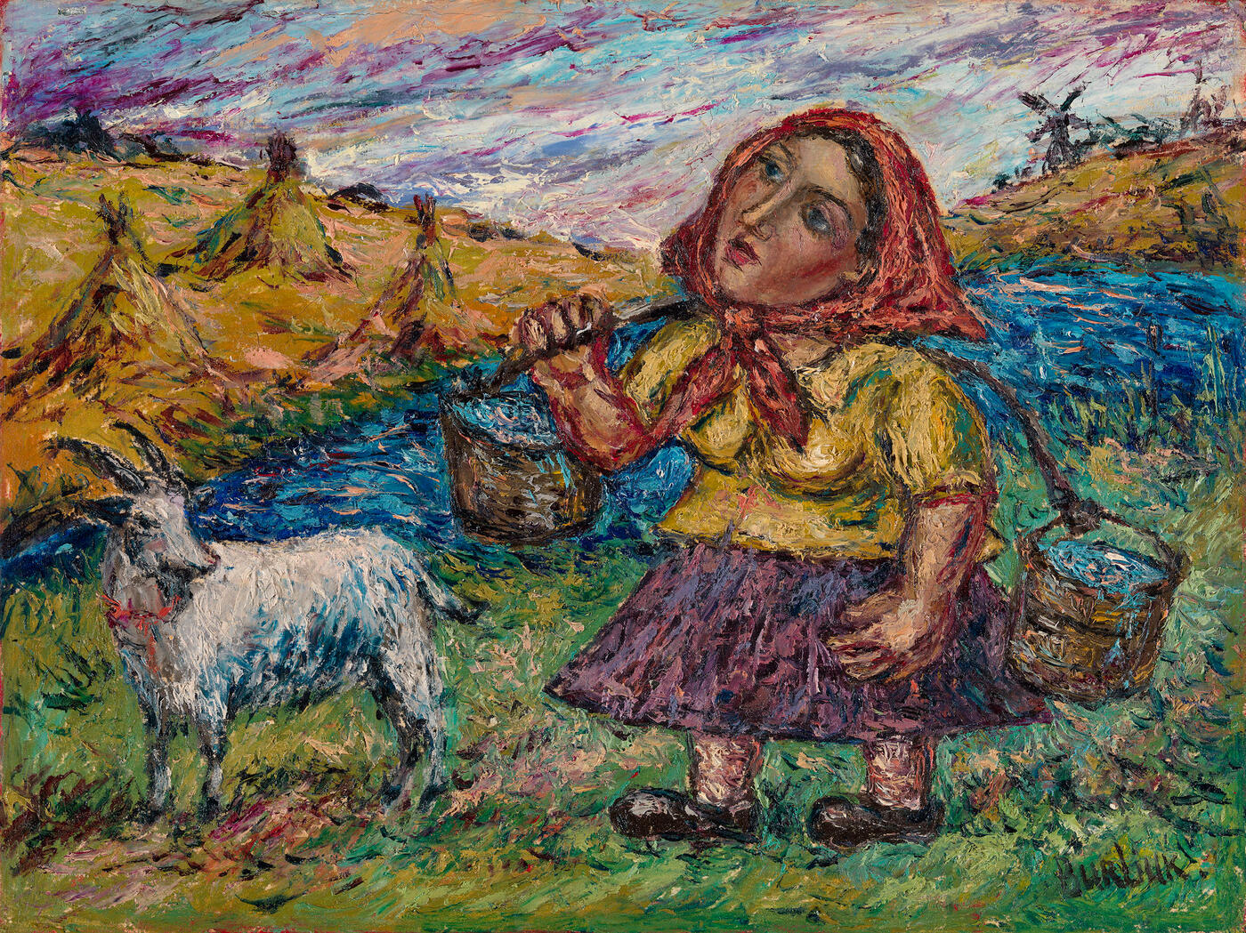 Woman with a Goat