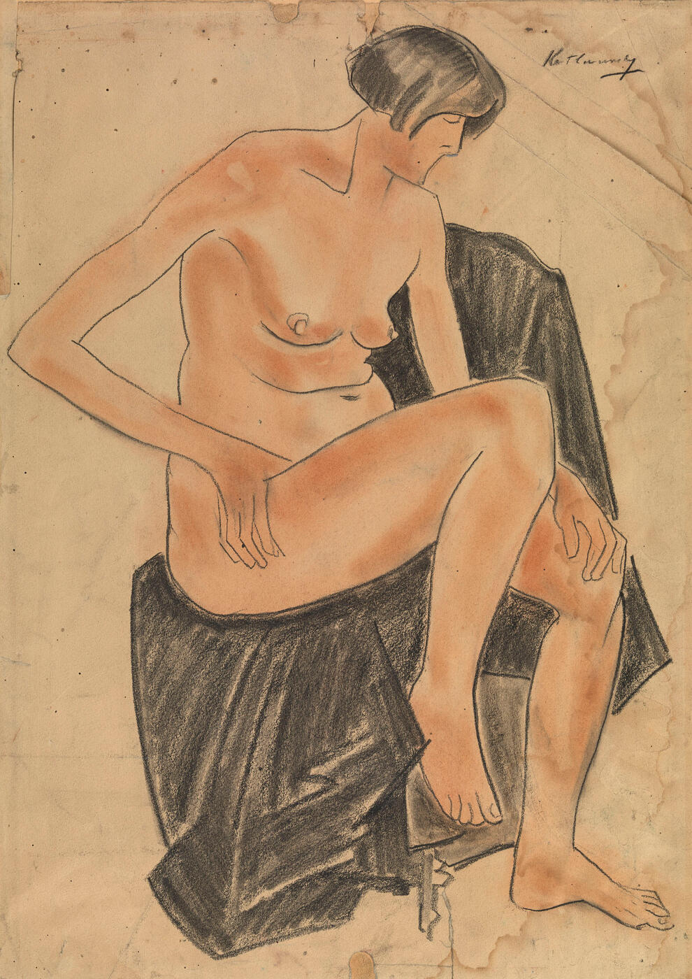 Seated Nude (Portrait of the Artist's First Wife)
