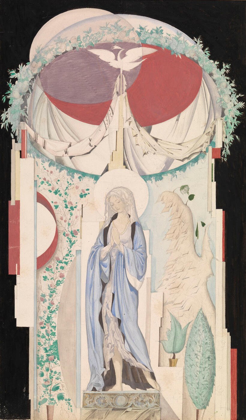 Design for a Niche with a Statue of the Virgin Mary