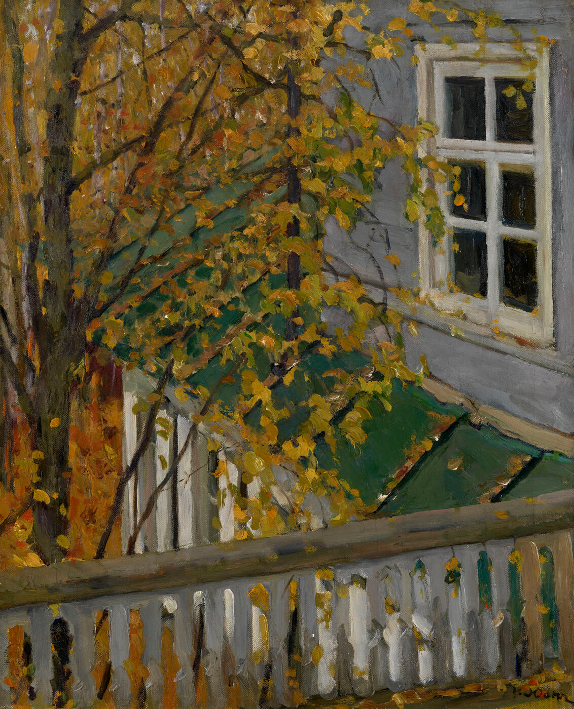 View from a Balcony in Autumn