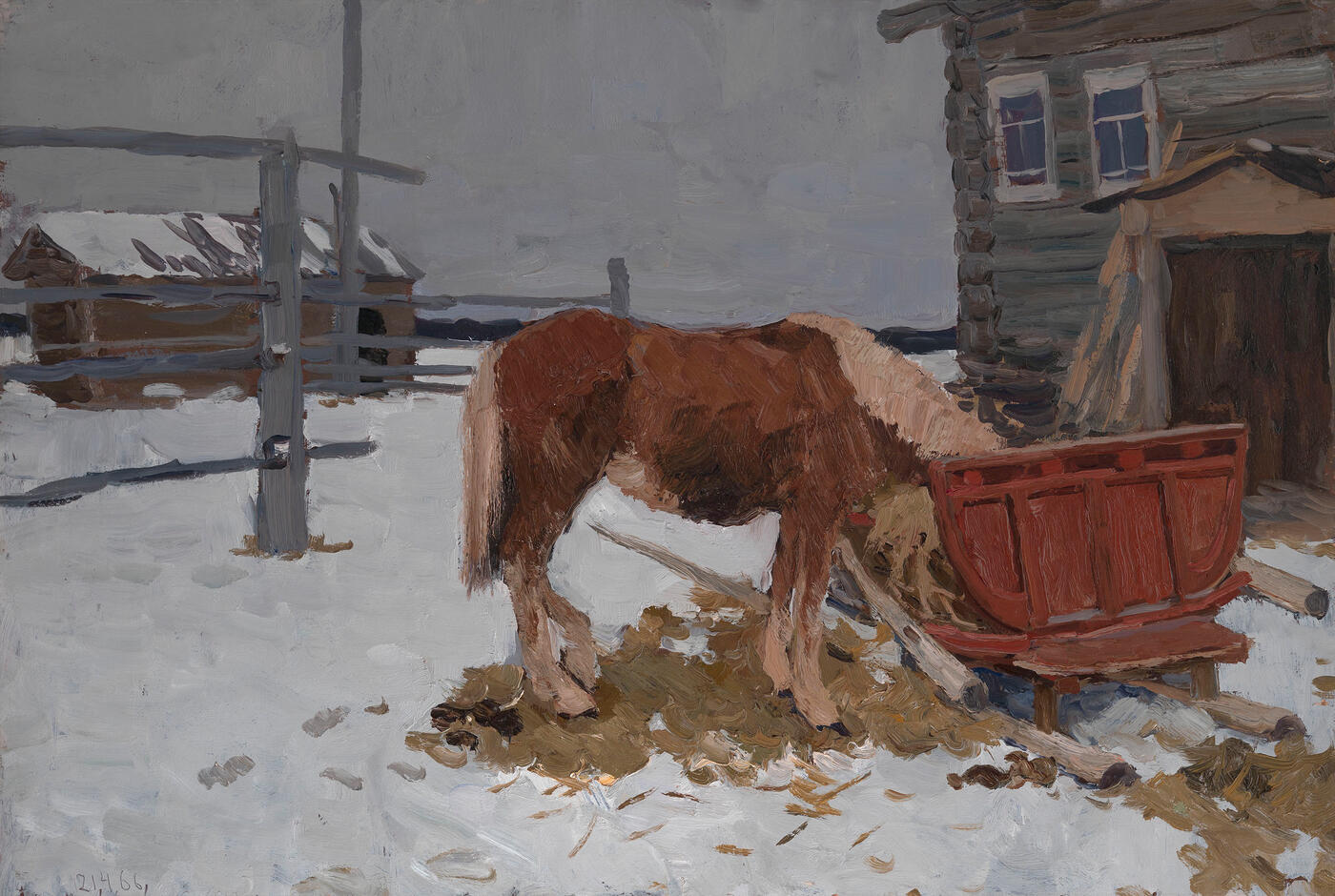 Horse and Red Sleigh