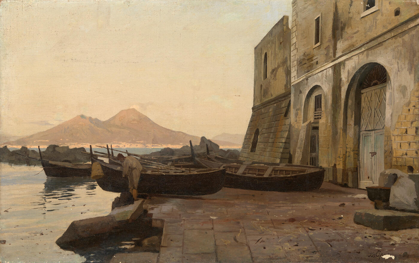 View of Mount Vesuvius from the Bay of Naples