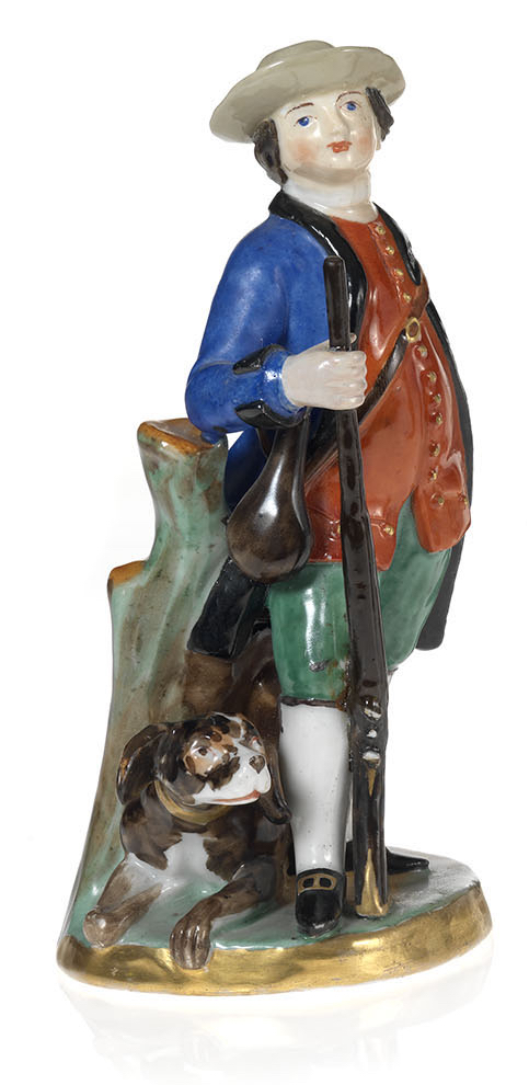 A Porcelain Figurine of a Young Huntsman