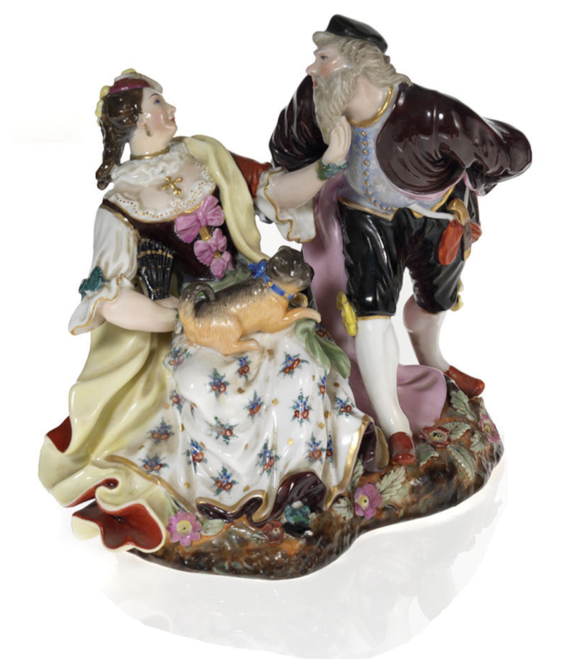 A Porcelain Composition of Colombina and Pantalone