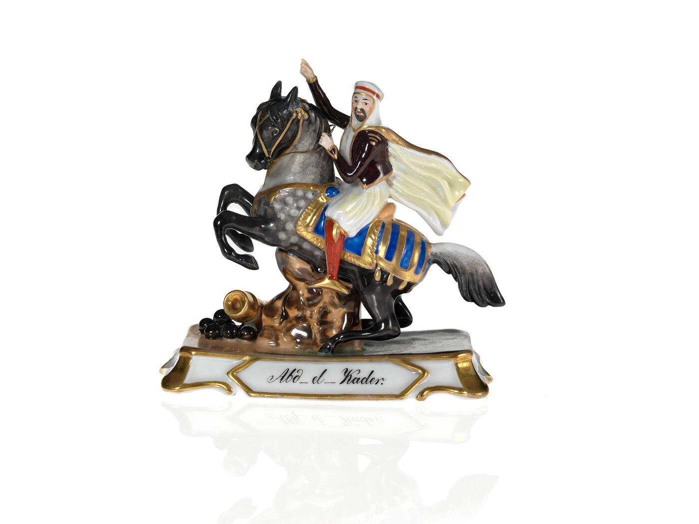 A Porcelain Figurine of Emir Abdelkader on a Horse