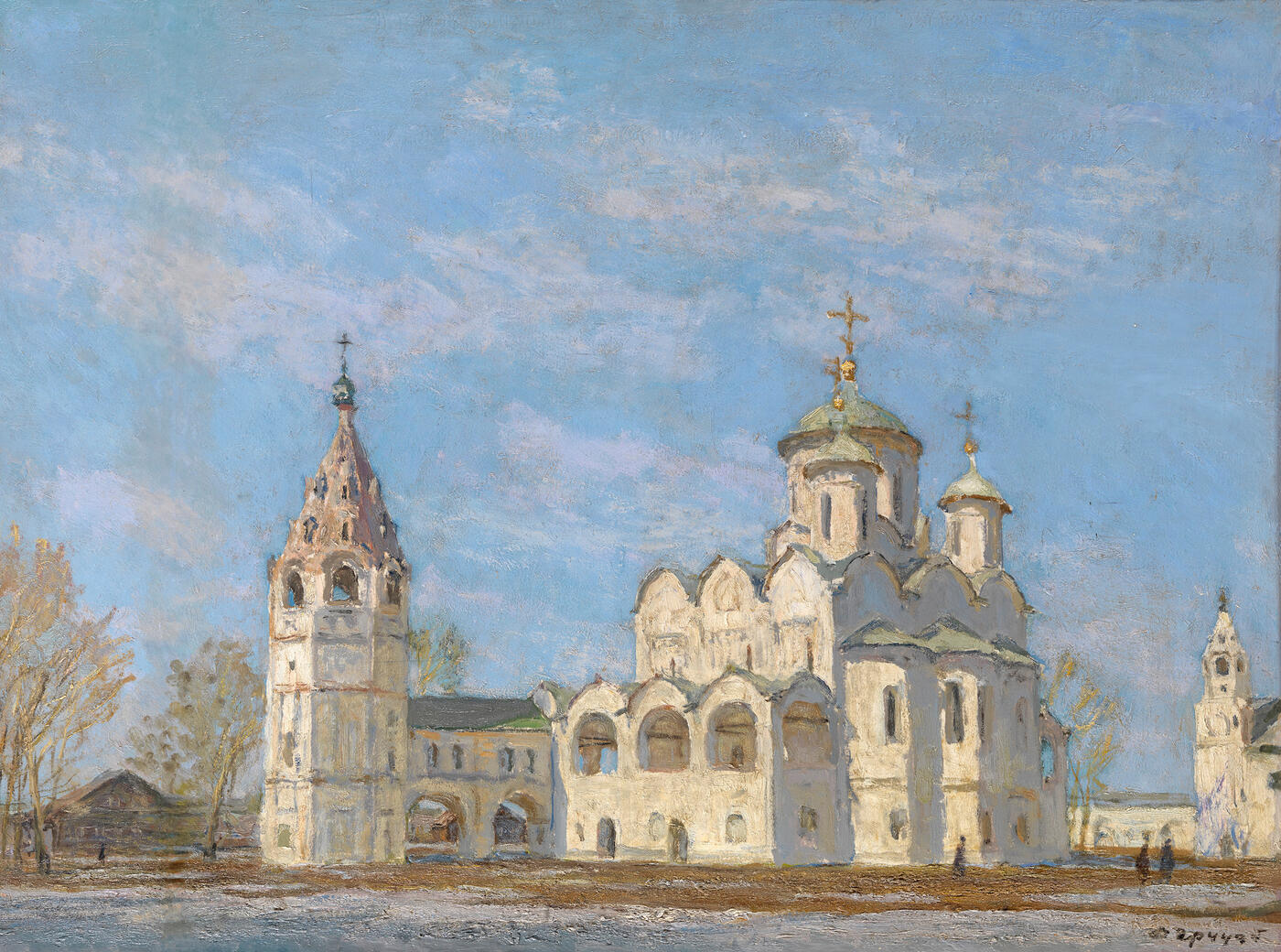 Pokrovsky Cathedral with a Bell Tower. Suzdal