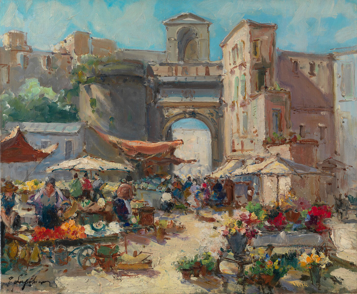 Market Scene in Naples