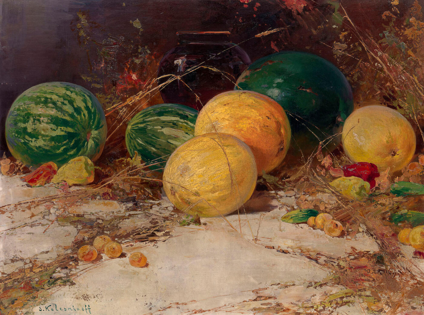 Still Life with Watermelons and Melons