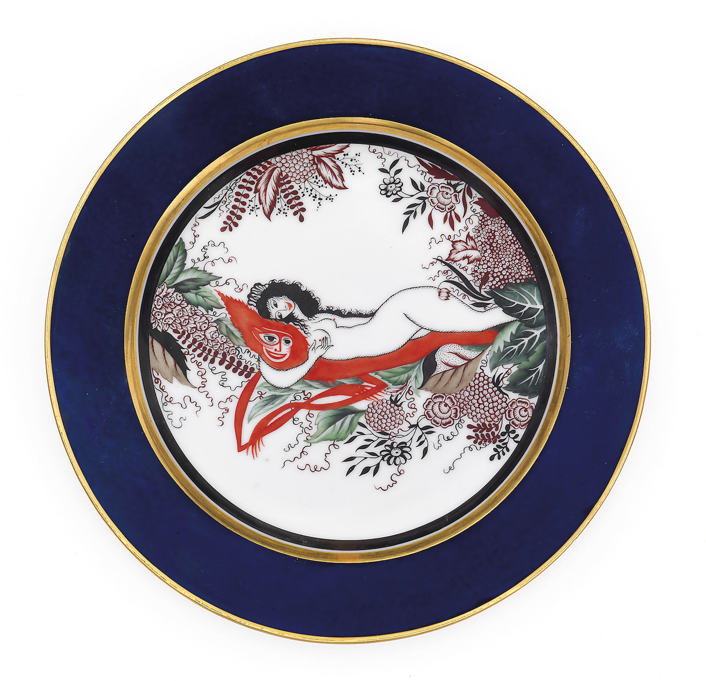 "A Soviet Porcelain Plate ""Woman with a Demon"""