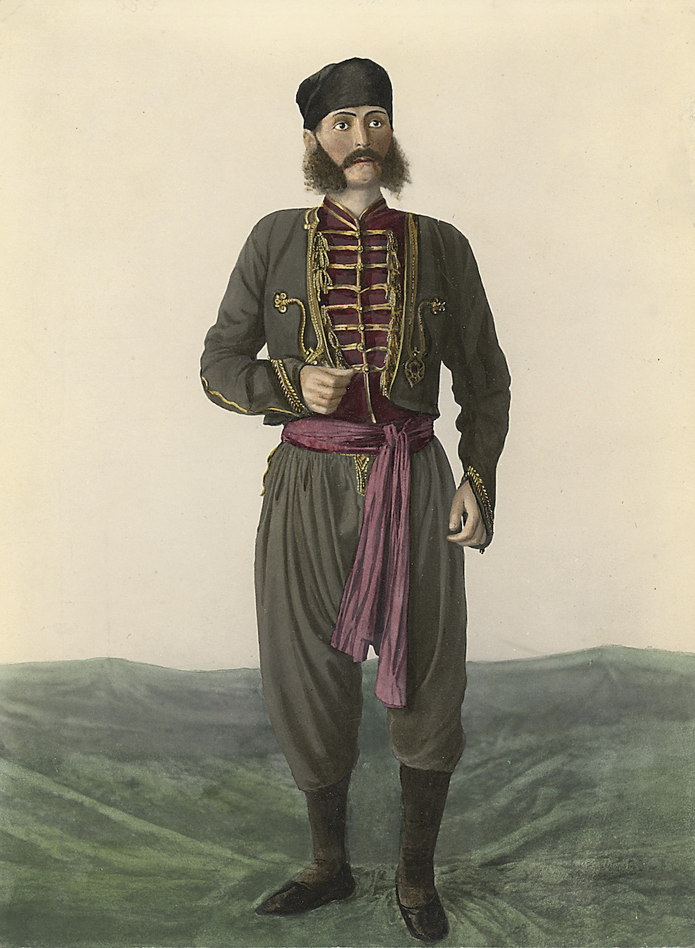 Montenegrin Man from the Bay of Kotor Region