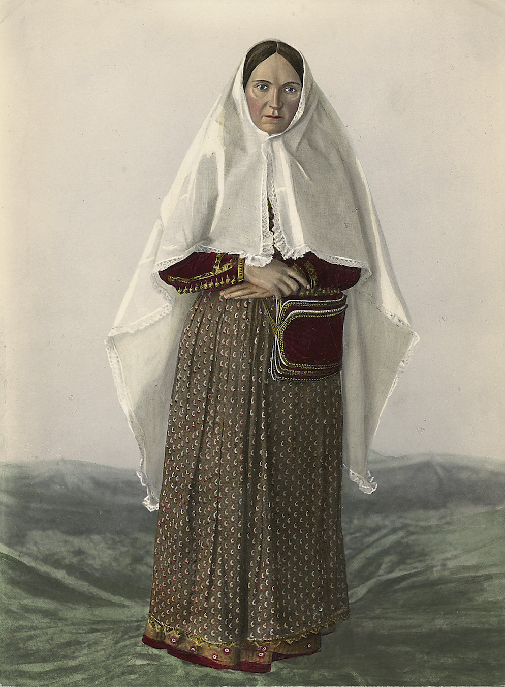 Montenegrin Woman form the Bay of Kotor Region