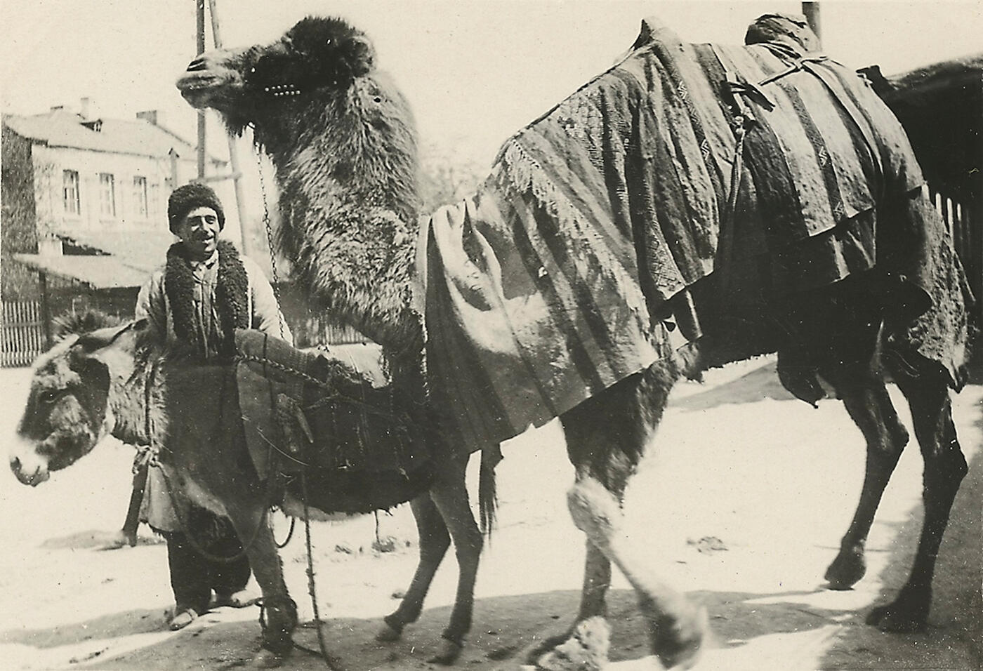 Woman in a Veil and Peasant from Quba Region Arriving to Baku