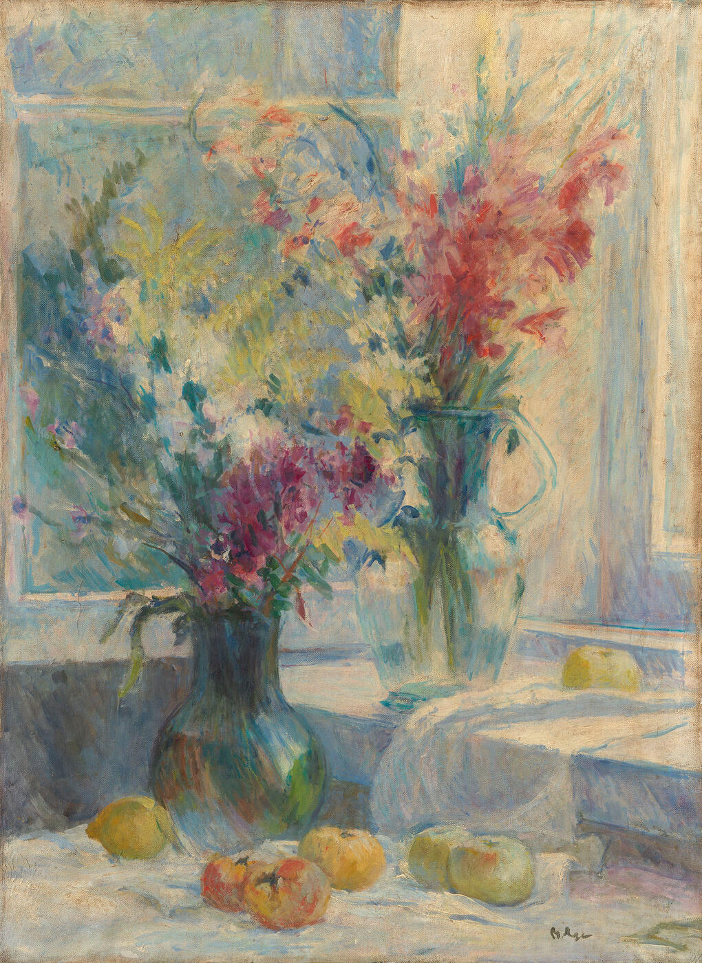 Still Life with Flowers in Two Vases