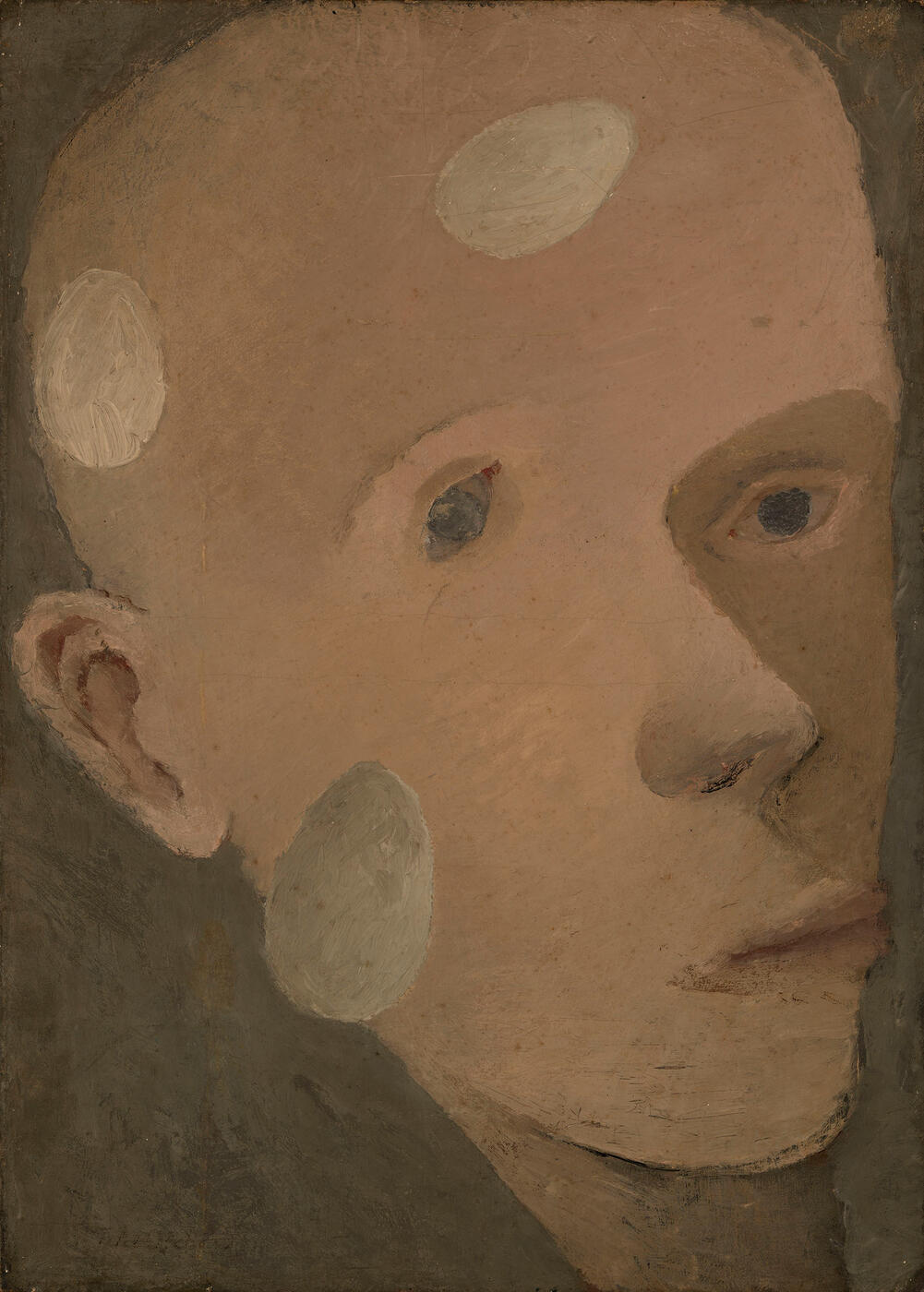 Head of a Young Boy with Floating Eggs