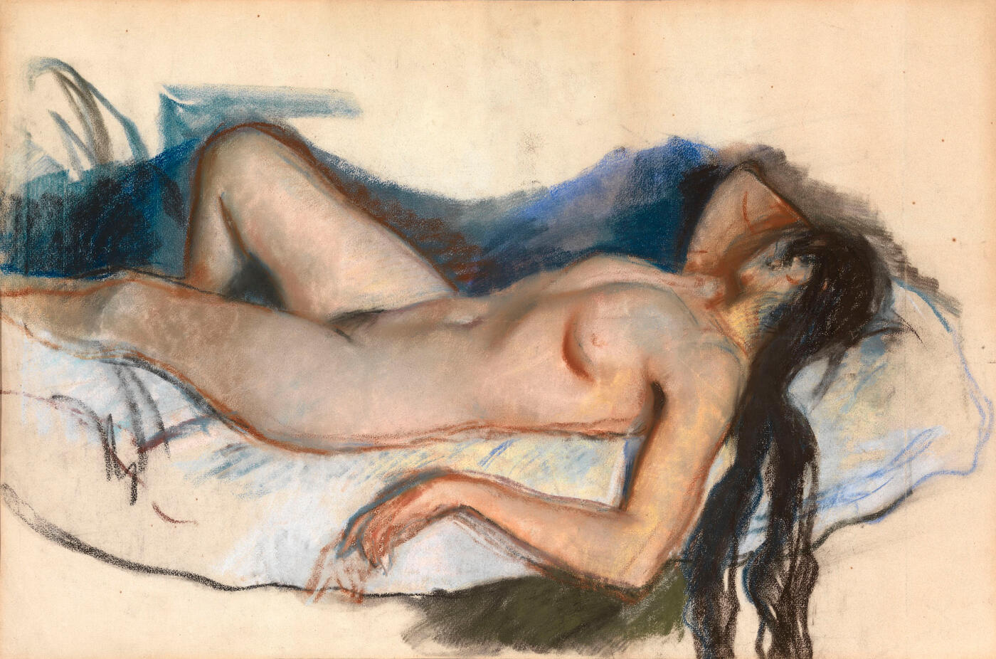 Reclining Nude and Neskuchnoe, double-sided work