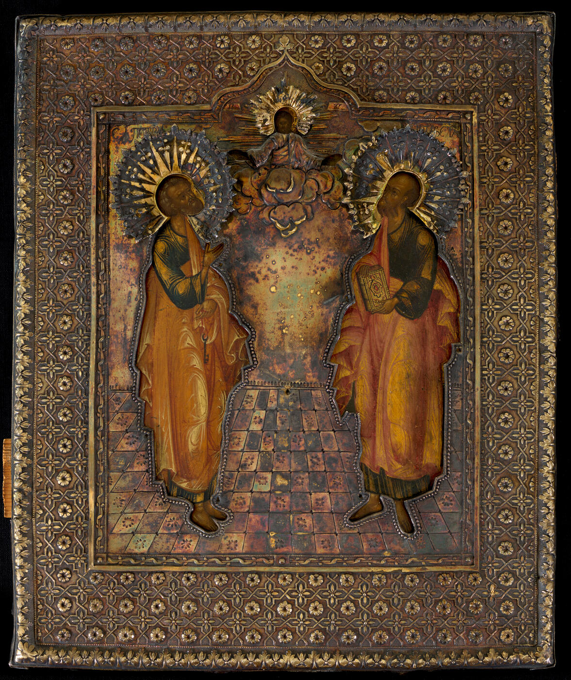 The Holy Apostles Peter and Paul in Silver-Gilt Oklad
