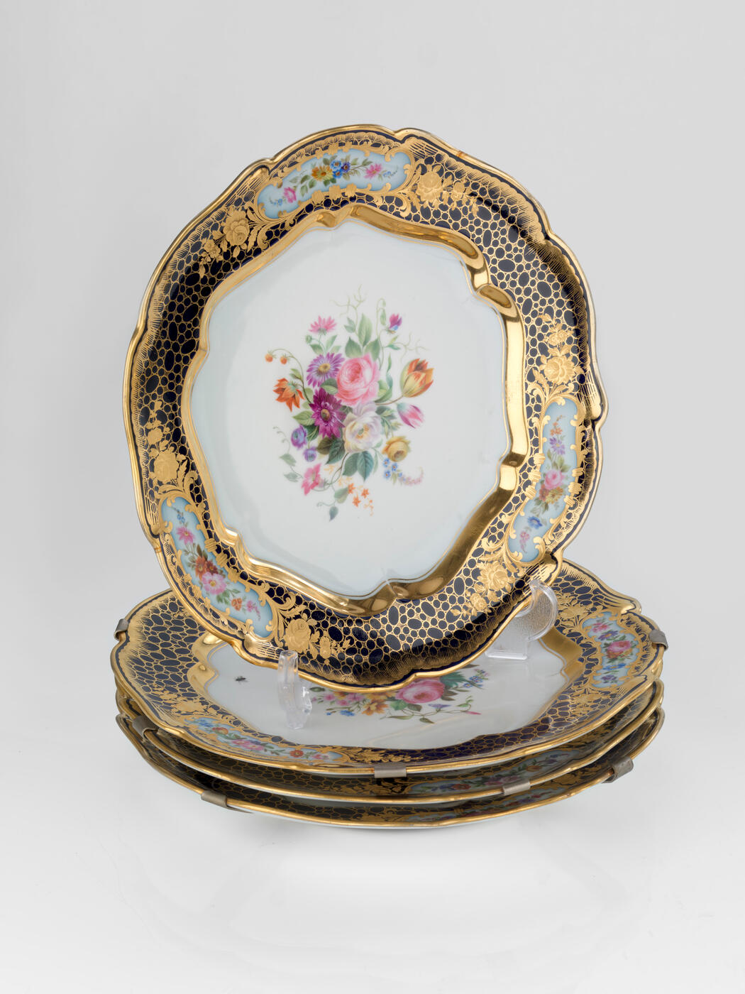 A Set of Four Dinner Plates from the Sèvres Service
