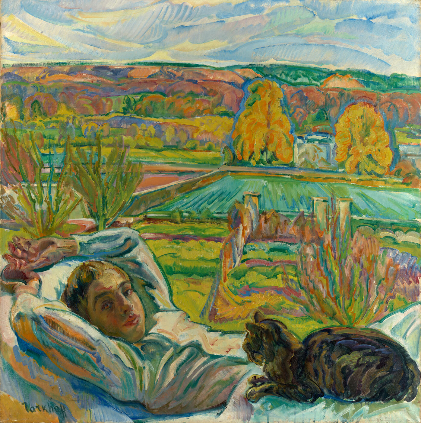 Portrait of the Artist's Son Jean in Jardin d'Orsay