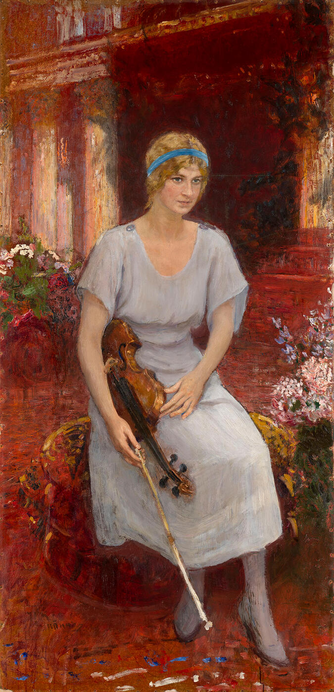 Portrait of the Violinist Cecilia Hansen