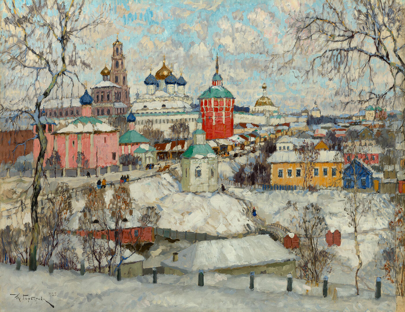 Trinity Lavra of St Sergius in Winter