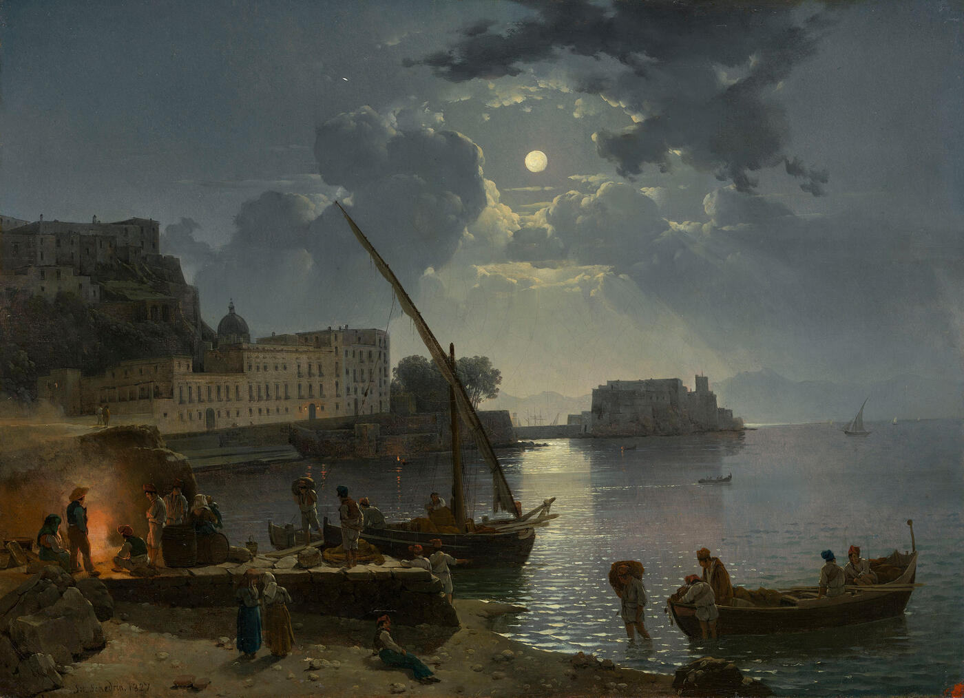 Moonlight over Naples