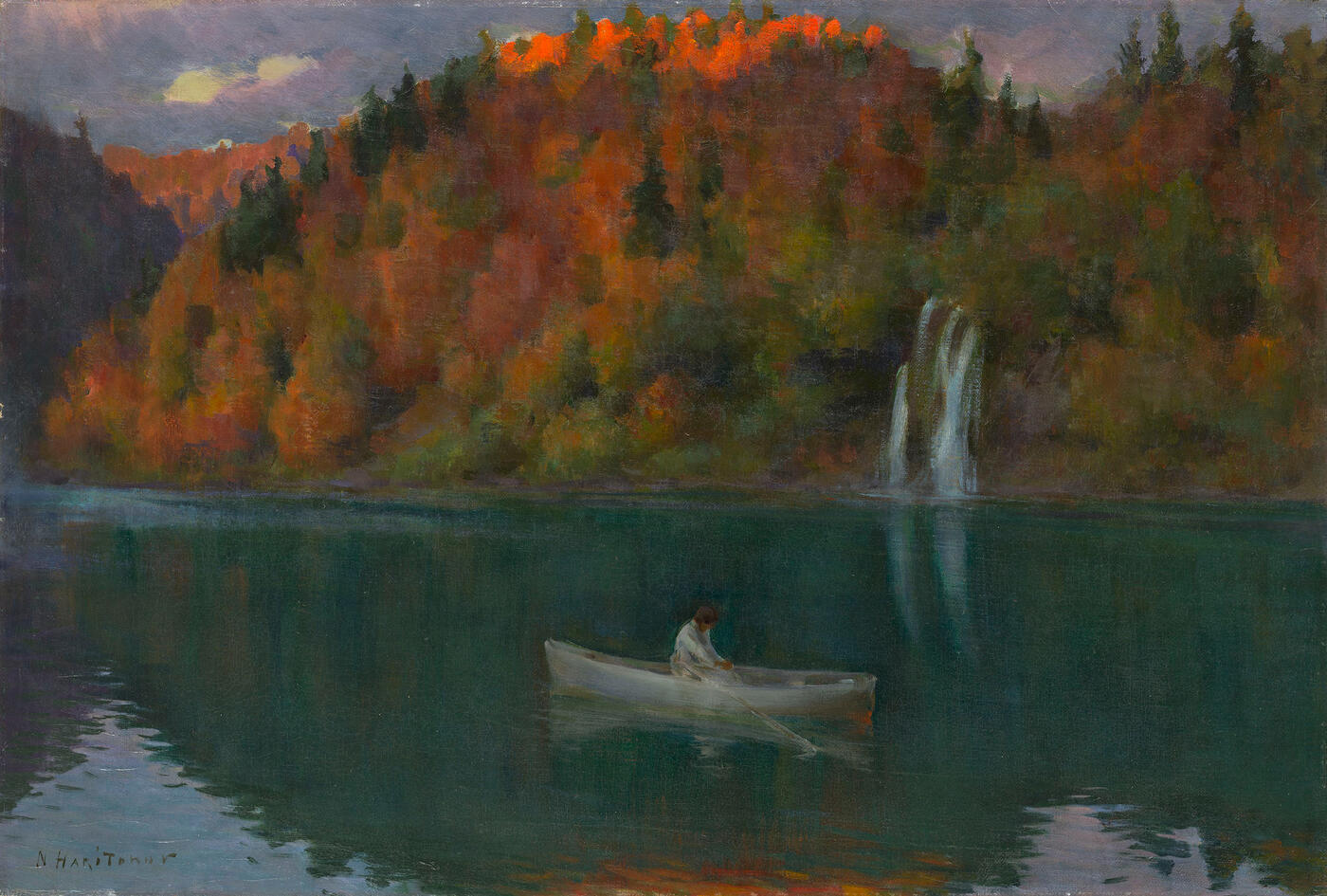 Boating on the Autumn Lake
