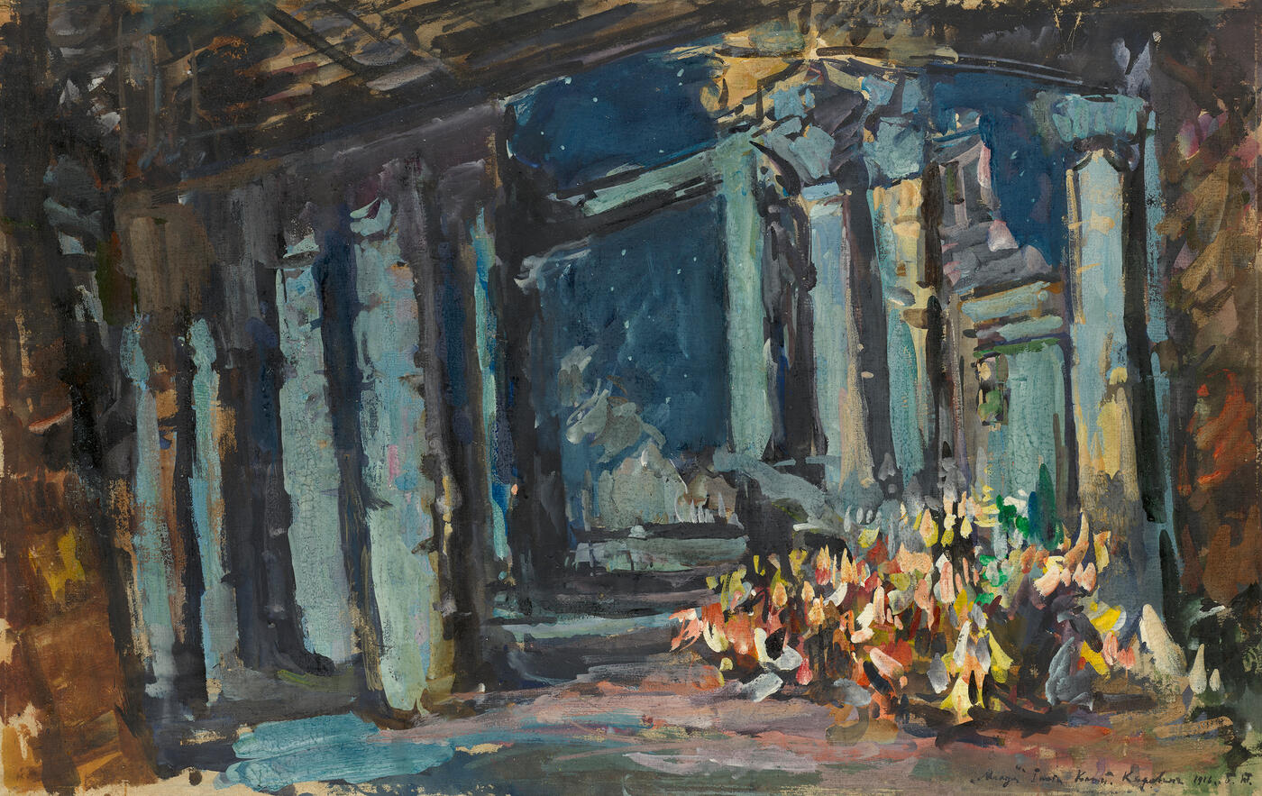 "Cleopatra's Palace, Egyptian Hall, Set Design for Rimsky-Korsakov's Opera Ballet  ""Mlada"""