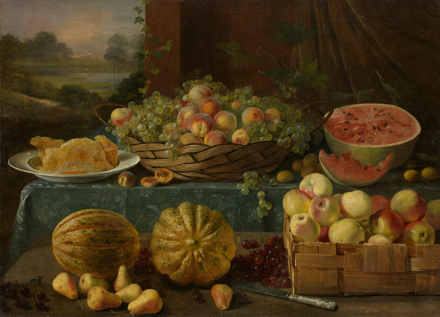Still Life with Fruit and Honeycomb
