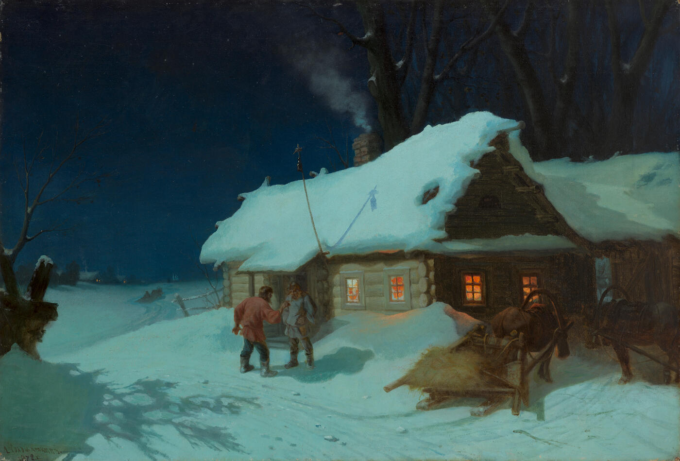Night Scene near a Tavern