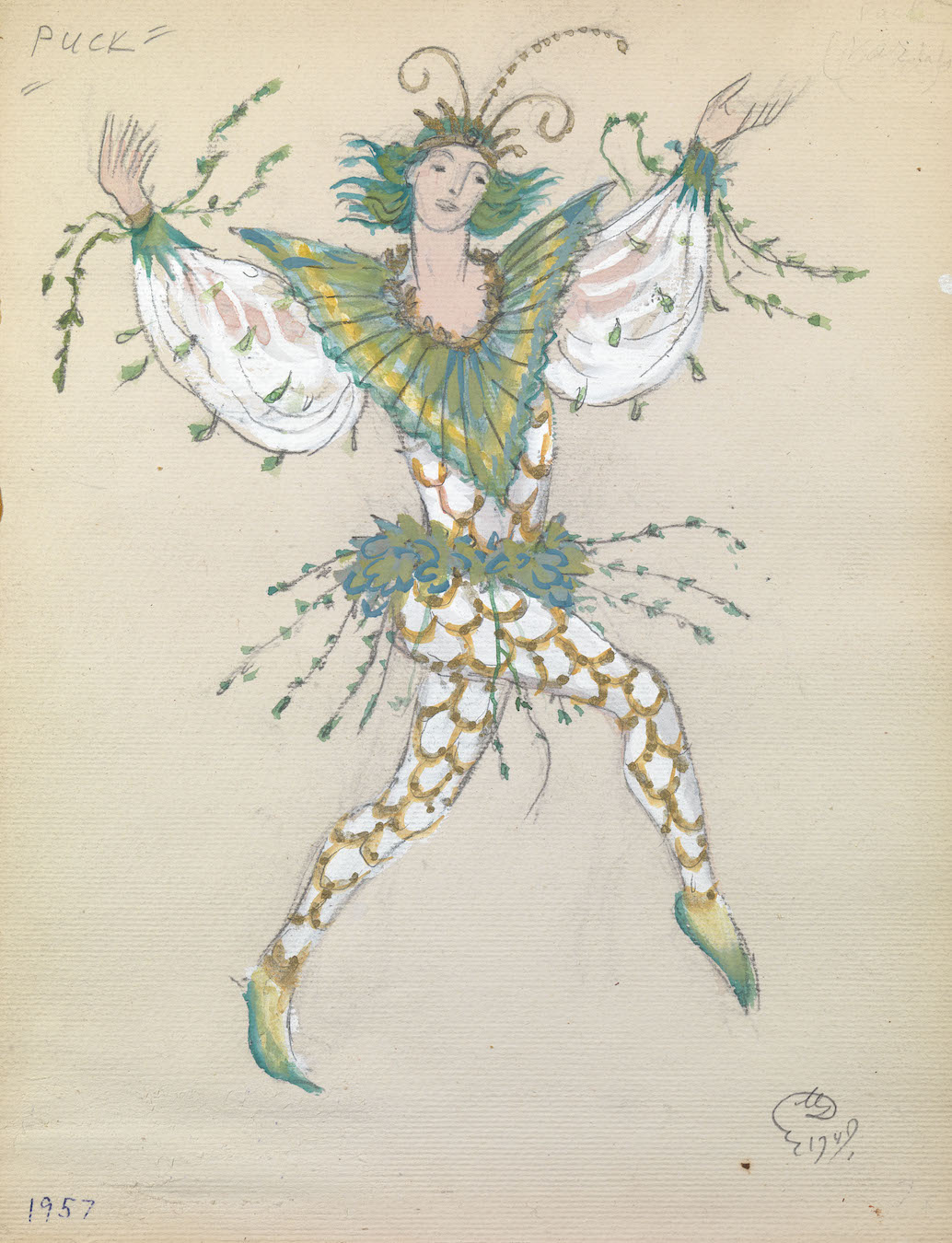 A Collection of Set and Costume Designs for Les  Ballets Ruth Sorel, accompanied by Photoengraved Plates, Photo Prints and Repertoire Brochures, 48 pieces