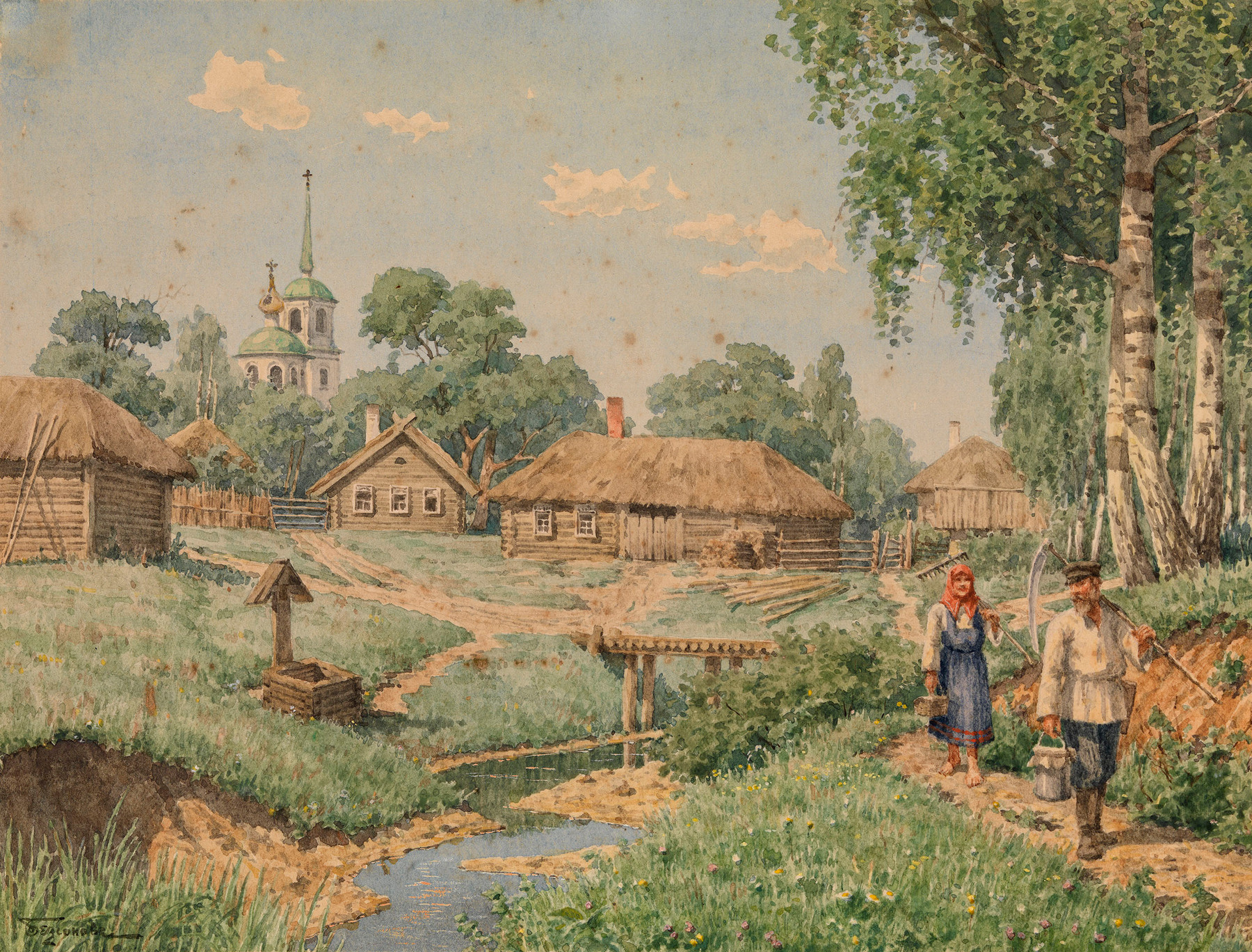 A Group of Three Country Scenes