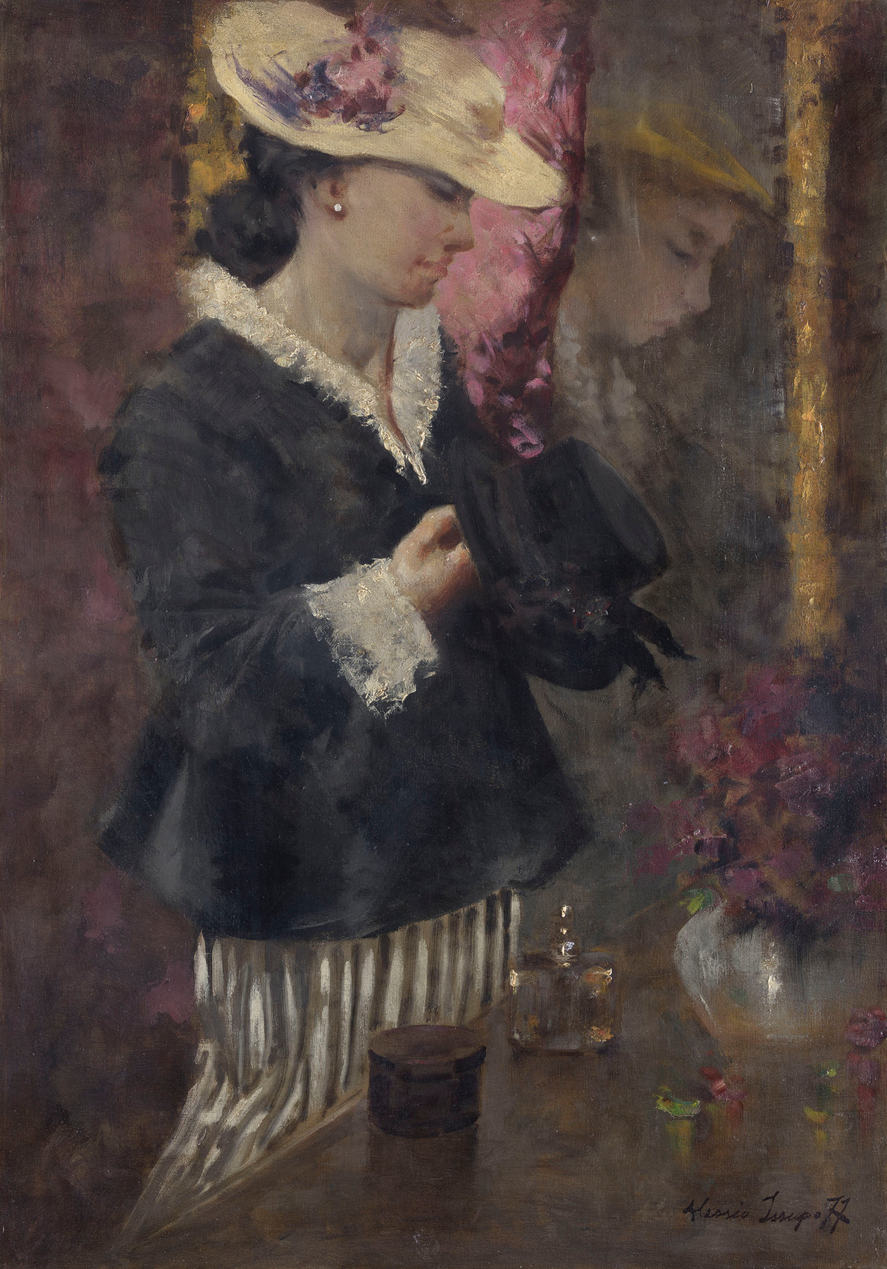 Lady by a Mirror