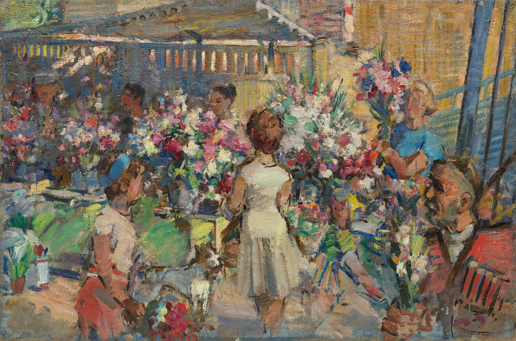 Flower Market near the Manezh – Moscow