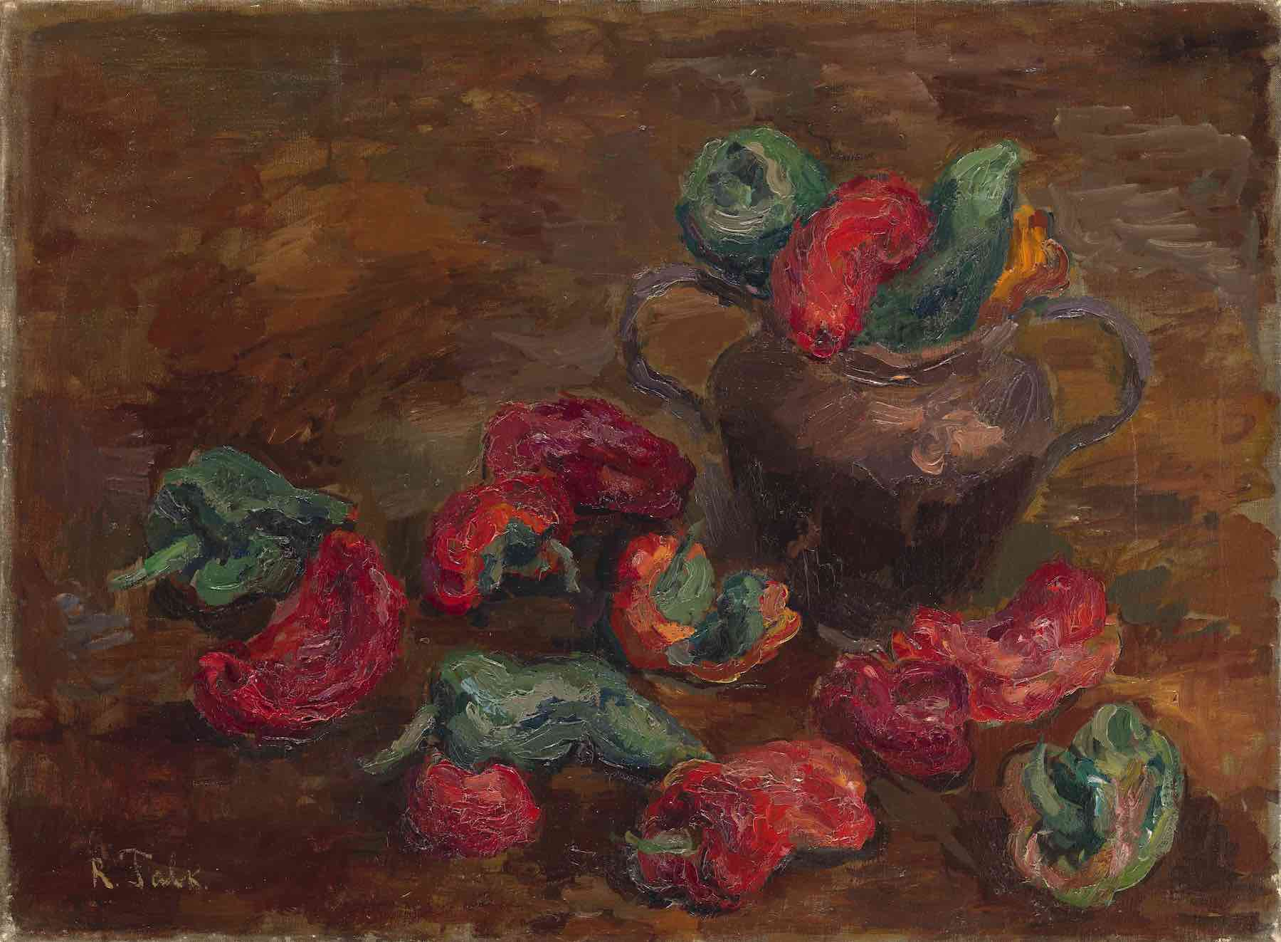<a  data-cke-saved-href='/en/catalogue/view?id=13585' href='/en/catalogue/view?id=13585'>Lot 12.</a> FALK, ROBERT, <i>Still Life with Peppers and a Pot</i><br> 150,000–200,000 GBP.
